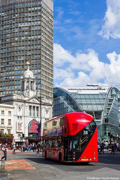 victoria coach station london blue sky