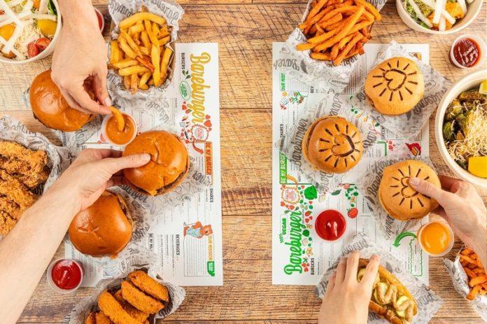 bareburger stamford ct burger flatlay