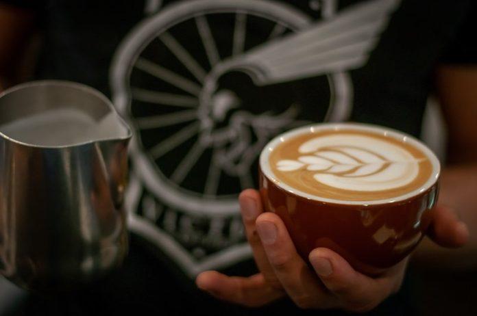 J.René Coffee Roasters latte cup dine in latte art