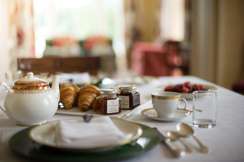 locally sourced breakfast at combermere abbey