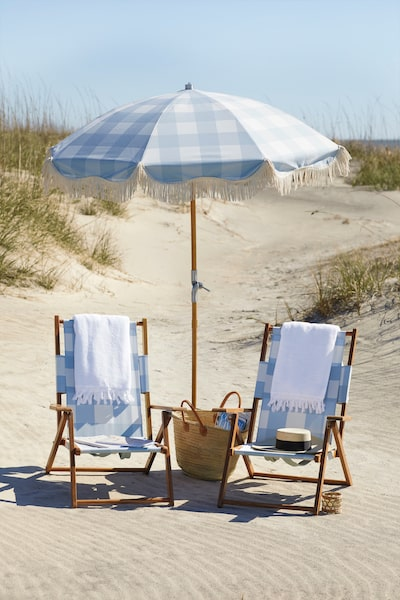 serena and lily teak beach chairs umbrella spring