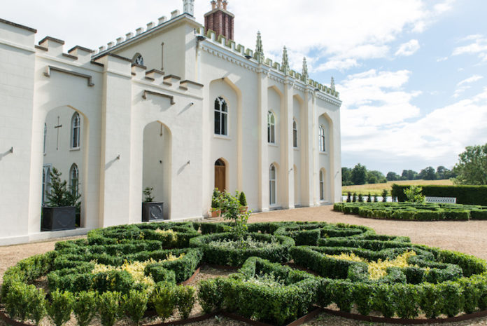 north wing of combermere abbey cheshire uk
