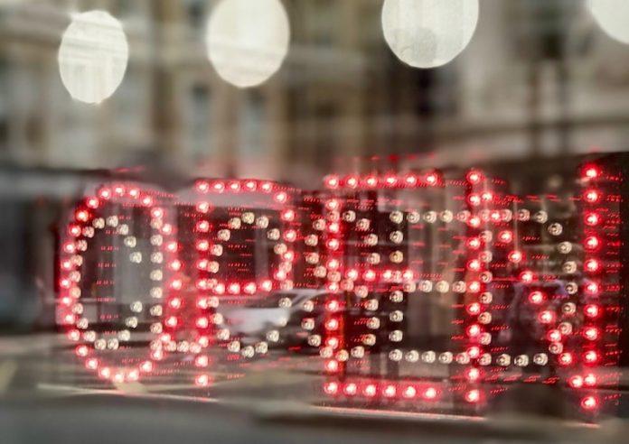 open sign uk restaurant