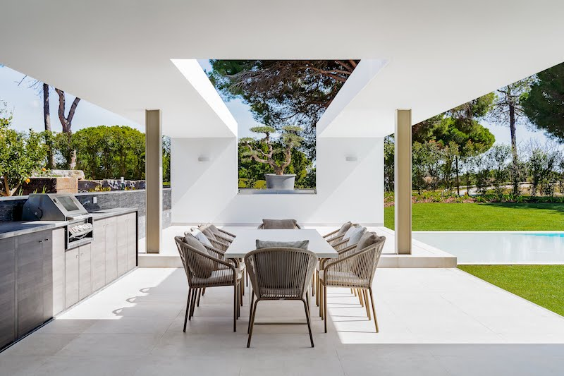 quinta do lago villa outdoor dining bbq portugal luxury real estate