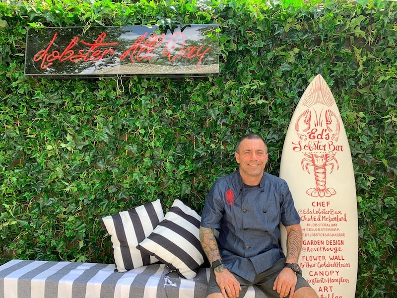 chef Ed McFarland ed's lobster bar sag harbor summer garden