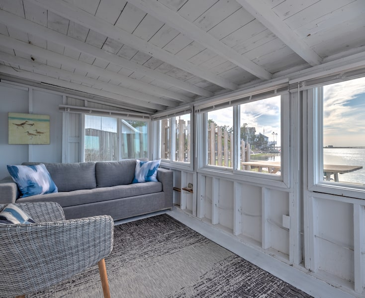 beach and bay bungalows porch bay view westhampton