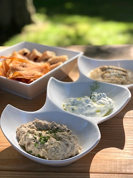 old stove pub sagaponack trio of dips