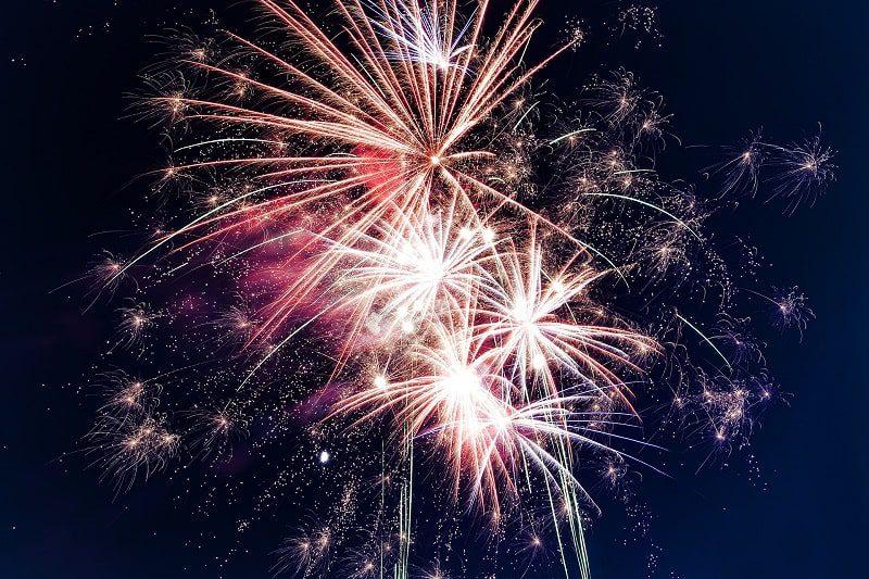 fireworks display night sky july 4th weekend