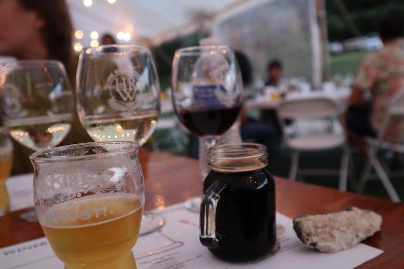 wine beer tasting woodbury brewing company