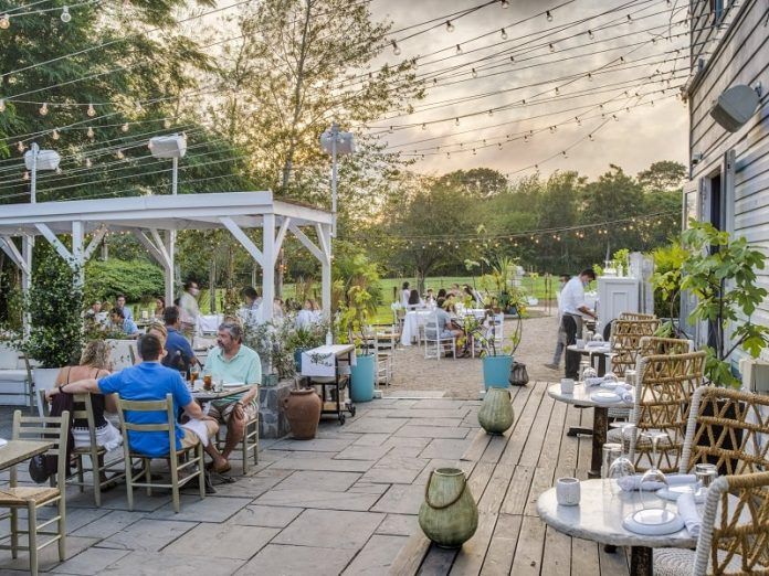 calissa water mill the hamptons outdoor dining - East End Taste Magazine