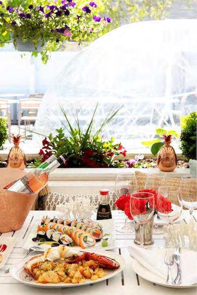 naia hamptons capri southampton new york outdoor dining