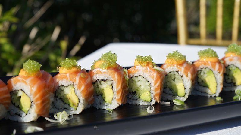 union sushi steak southampton the hamptons sushi on a plate