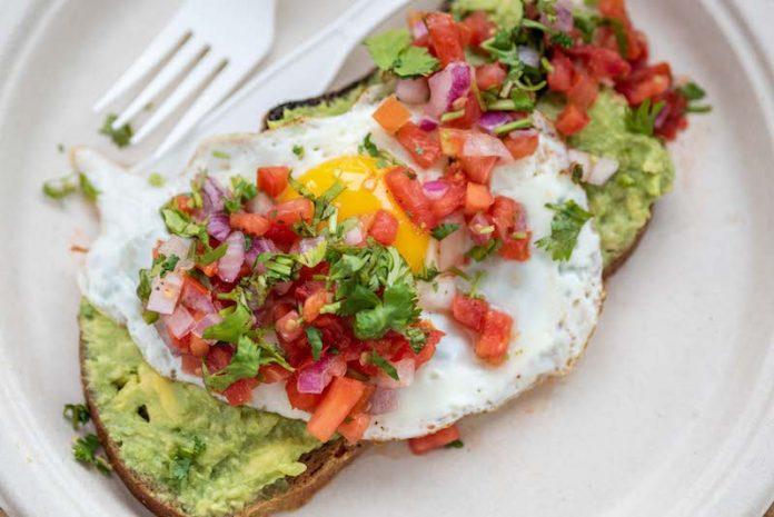 organic krush avocado toast amagansett gluten free with egg