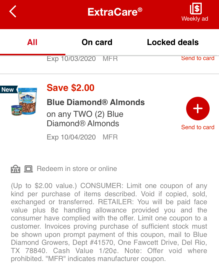 biota app offer cvs coupon blue diamond almonds - East End Taste Magazine
