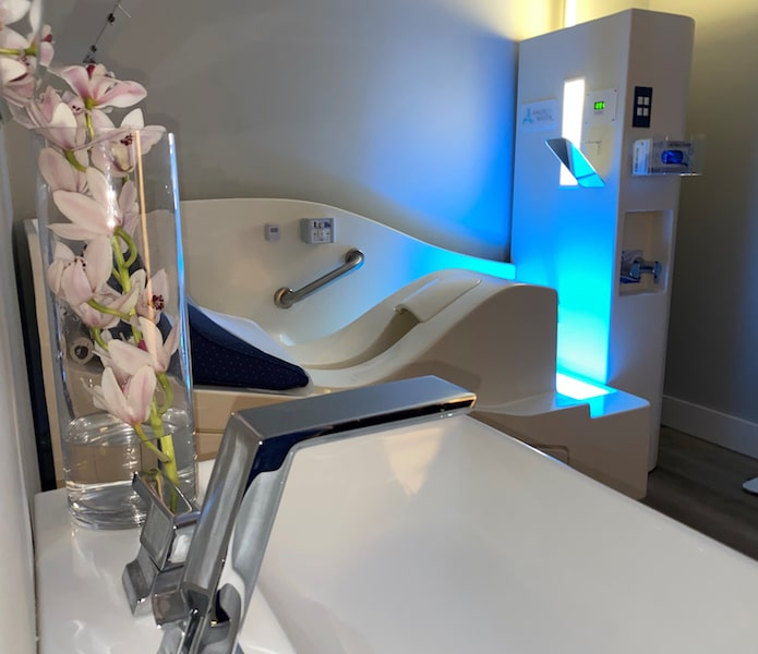 colonic treatment room organic edge water mill dim light wellness