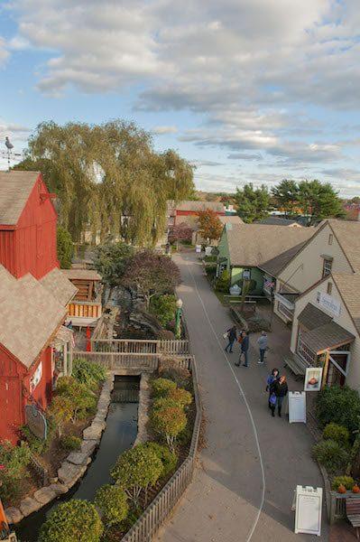 mystic connecticut aerial view quaint connecticut charming town