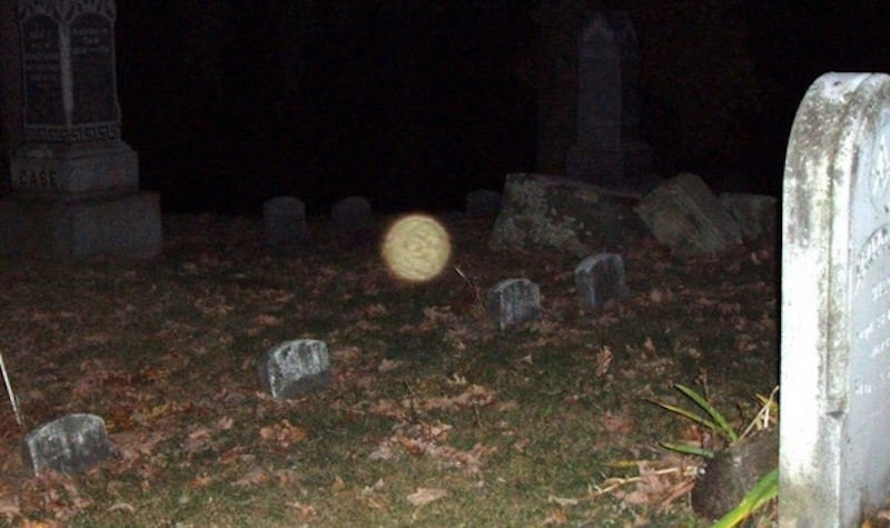 orb at milford cemetery ghost walk tour