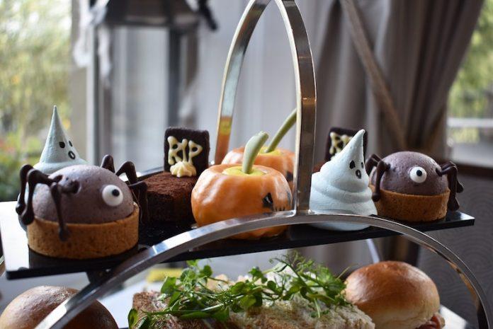Oatlands Park Hotel halloween afternoon tea uk