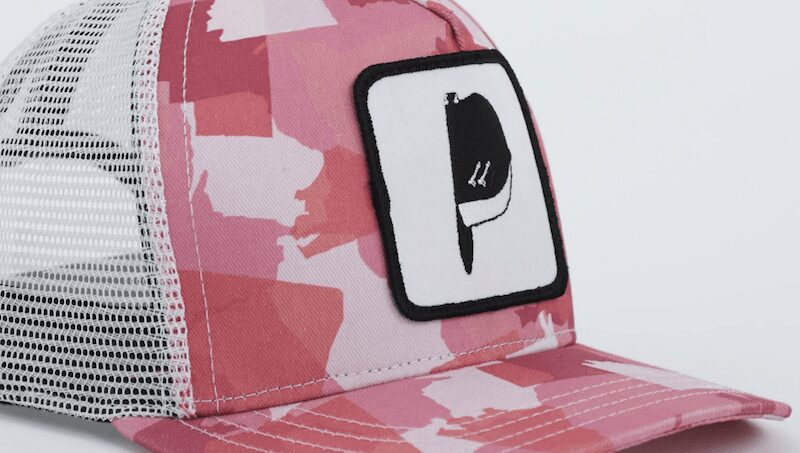 United States of camo pink trucker hat