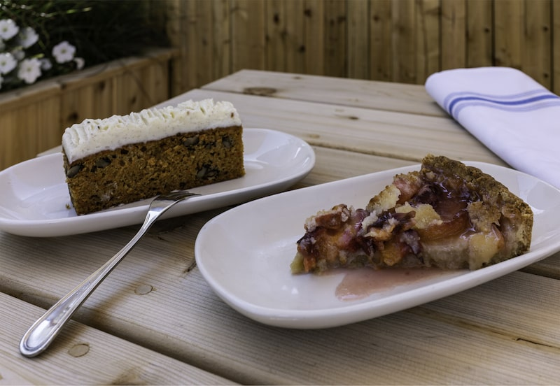 desserts outside on table outdoor dining hamptons amagansett