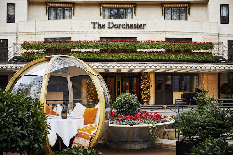 The Dorchester Winter Garden garden globes London