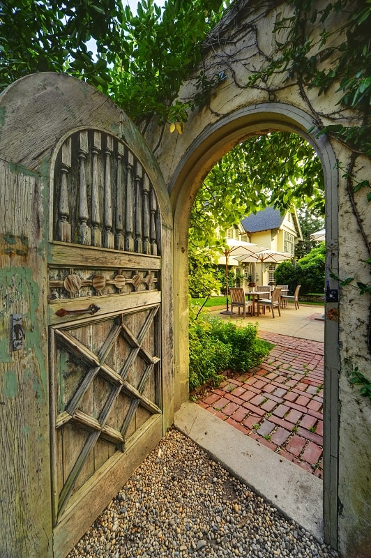 the baker house east hampton the hamptons weekend patio gate door