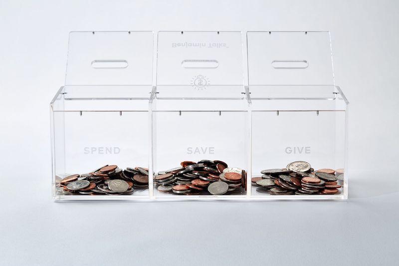 children saving money bank