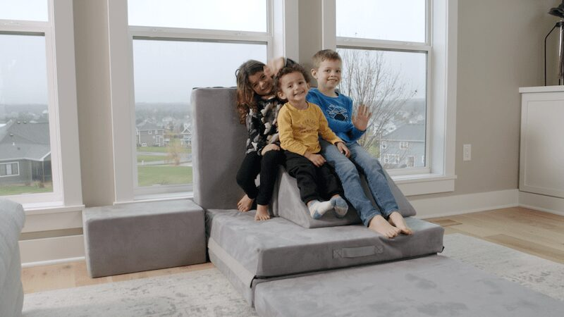 children playing on indoor furniture playtime figgy kids