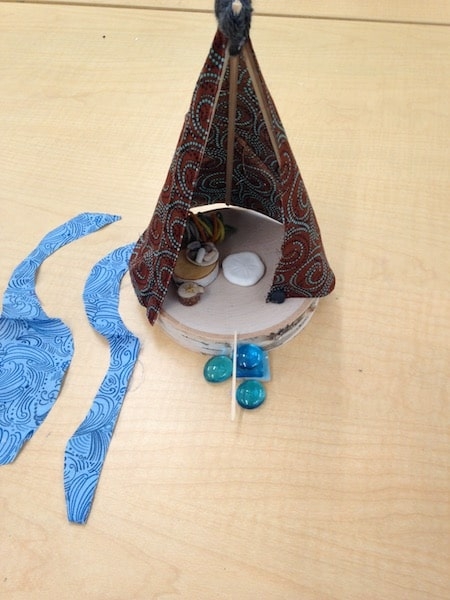 art therapy project at home teepee