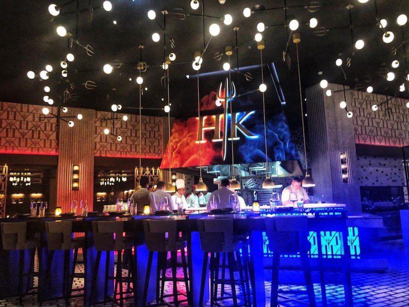 hell's kitchen interior dubai blue lights