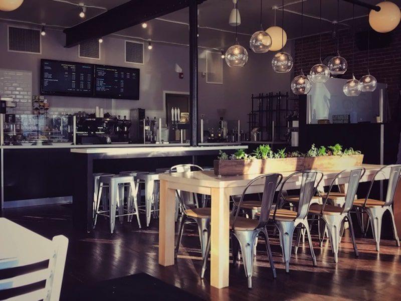 j. rene coffee roasters interior tables west hartford connecticut - East End Taste Magazine