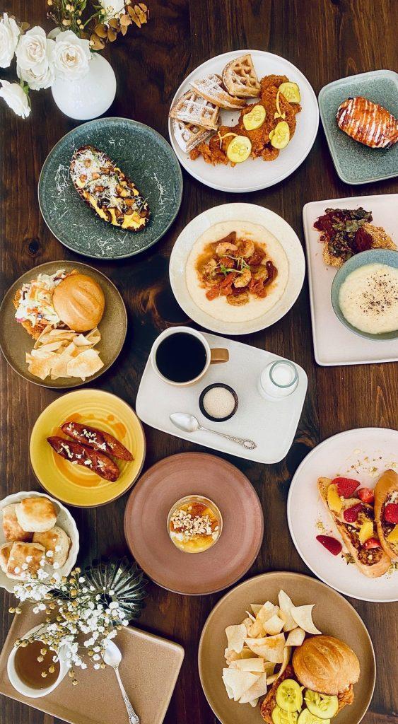 rosie's pop up florida table spread - East End Taste Magazine