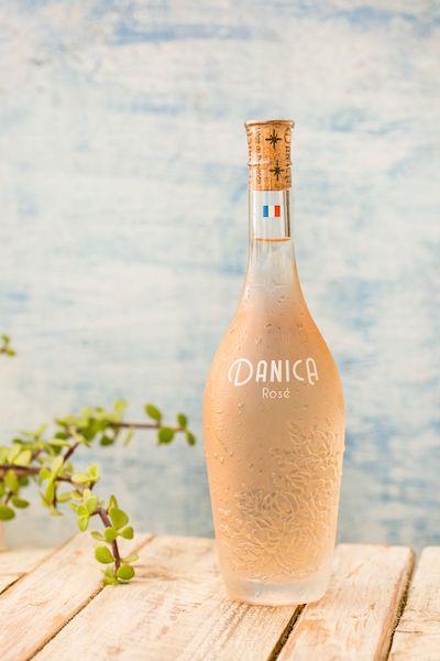 danica patrick rose bottle on table