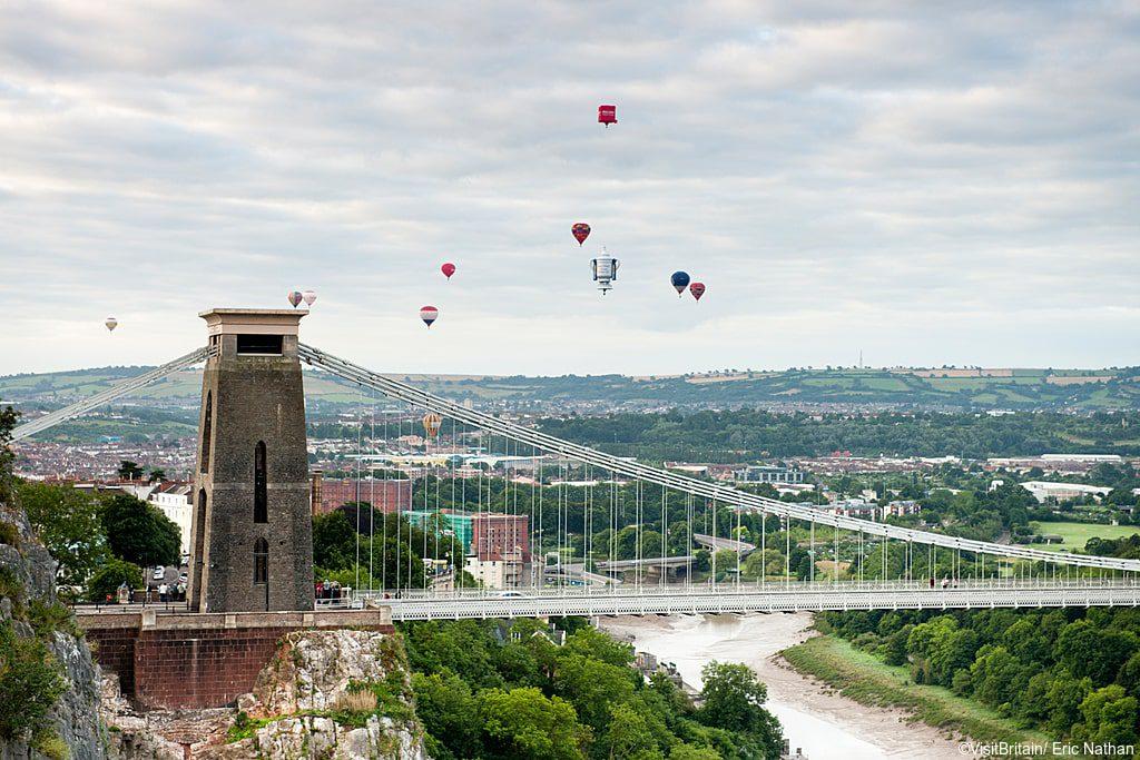 Clifton Suspension Bridge with Hot Air Ballons