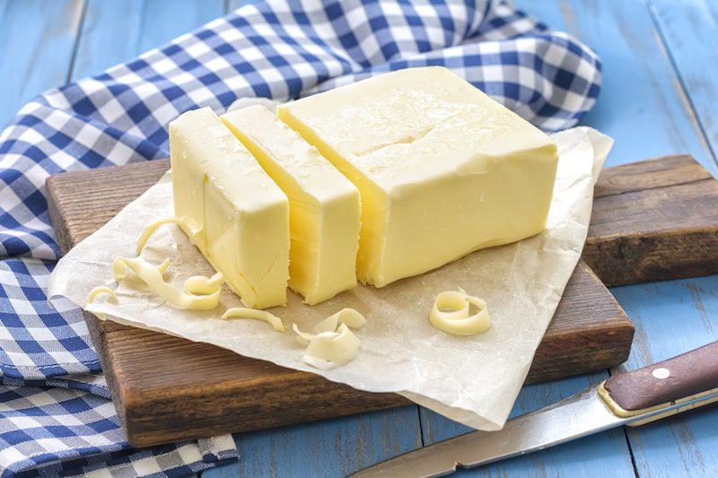 irish butter blue checkered cloth napkin