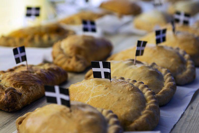cornish eden pasty with flag - East End Taste Magazine