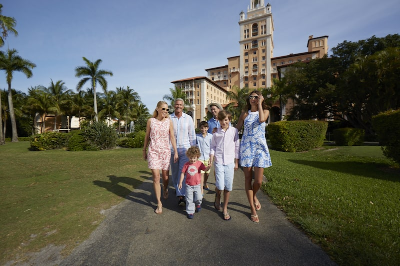 family walk biltmore hotel palm trees coral gables - East End Taste Magazine