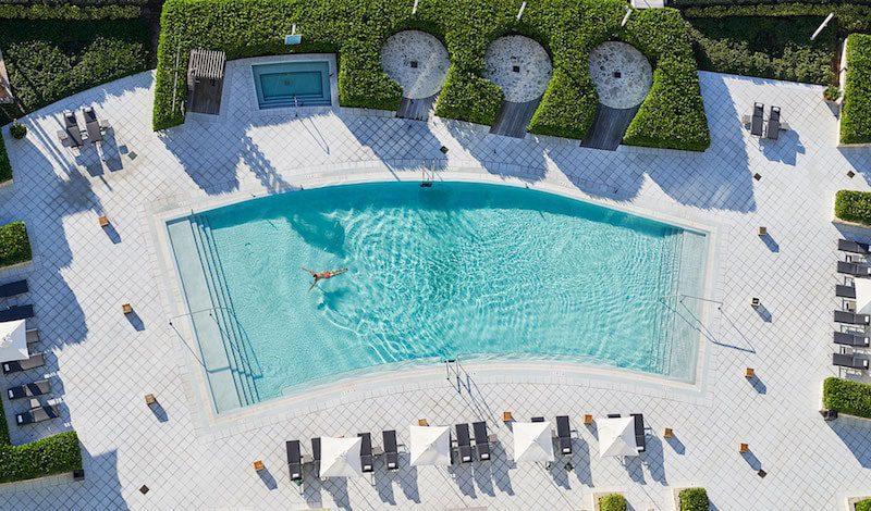 miami beach carillon hotel aerial view pool - East End Taste Magazine