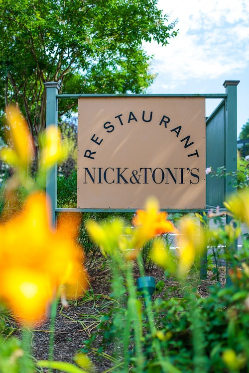 nick and toni's restaurant sign
