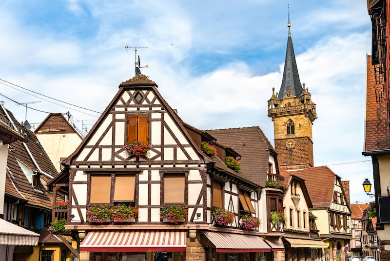 Traditional half-timbered houses in Obernai