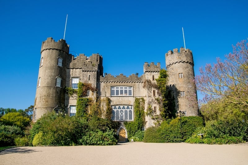 malahide castle blue sky ireland east end taste