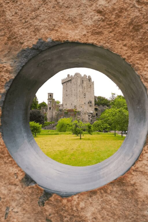 blarney castle cork ireland through peak hole