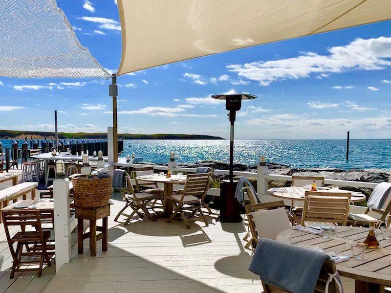 duryea's outdoor dining deck montauk hamptons summer