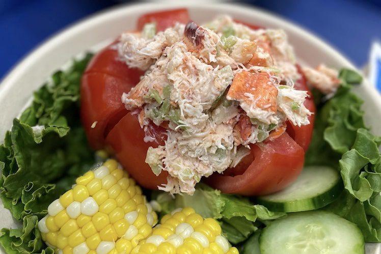 hooked mtk tomato lob salad lobster meat
