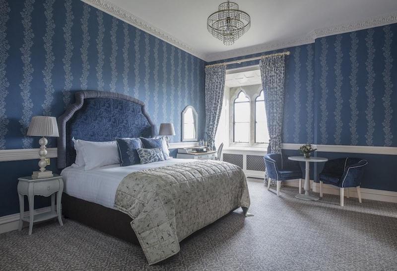 blue bedroom kilkea castle