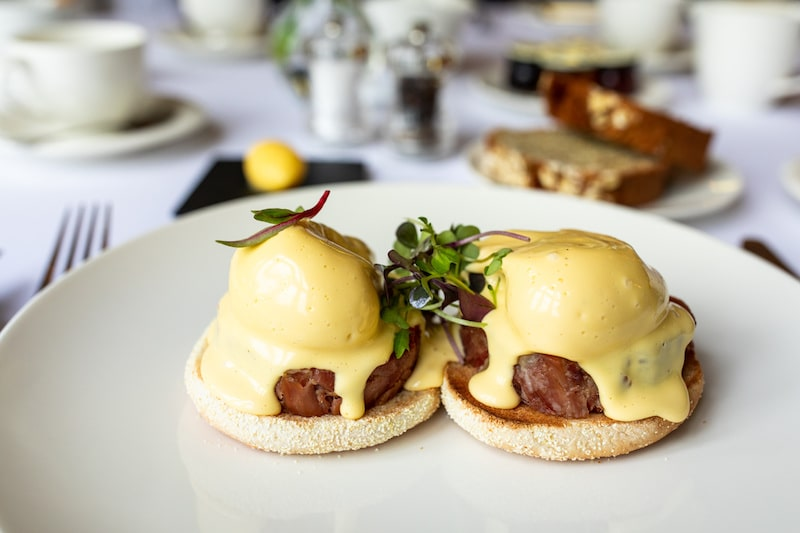 eggs Benedict kilkea castle breakfast