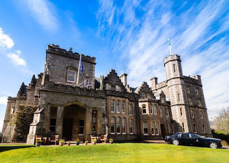 inverlochy castle scotland blue sky