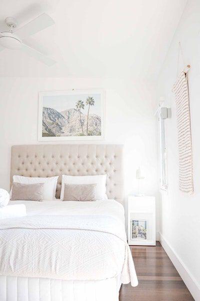 beautiful white interior bedroom natural light vertical