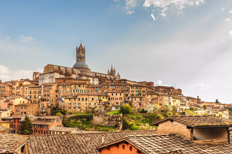 medieval city of siena italy beautiful town