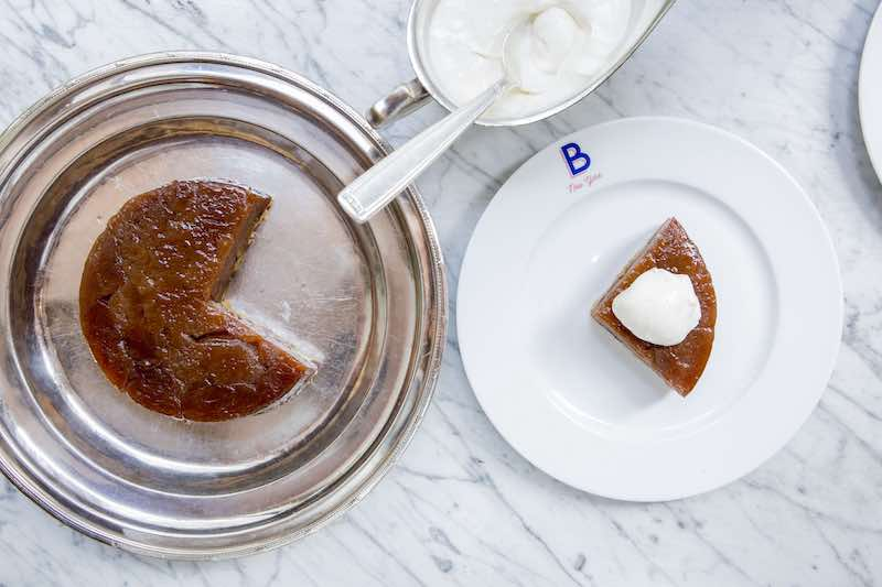 benoit dessert tartan with whipped cream